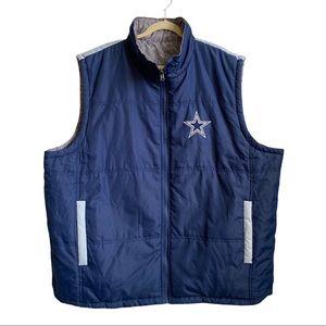 NFL Dallas Cowboys Reversible Puffer Vest
